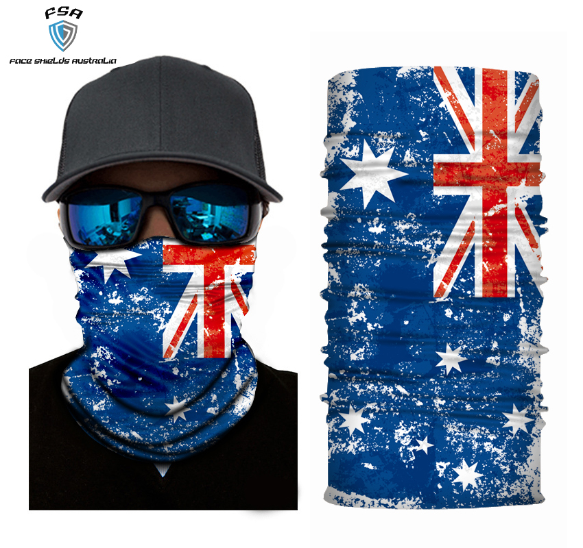 Faded Aussie Flag Face Shield