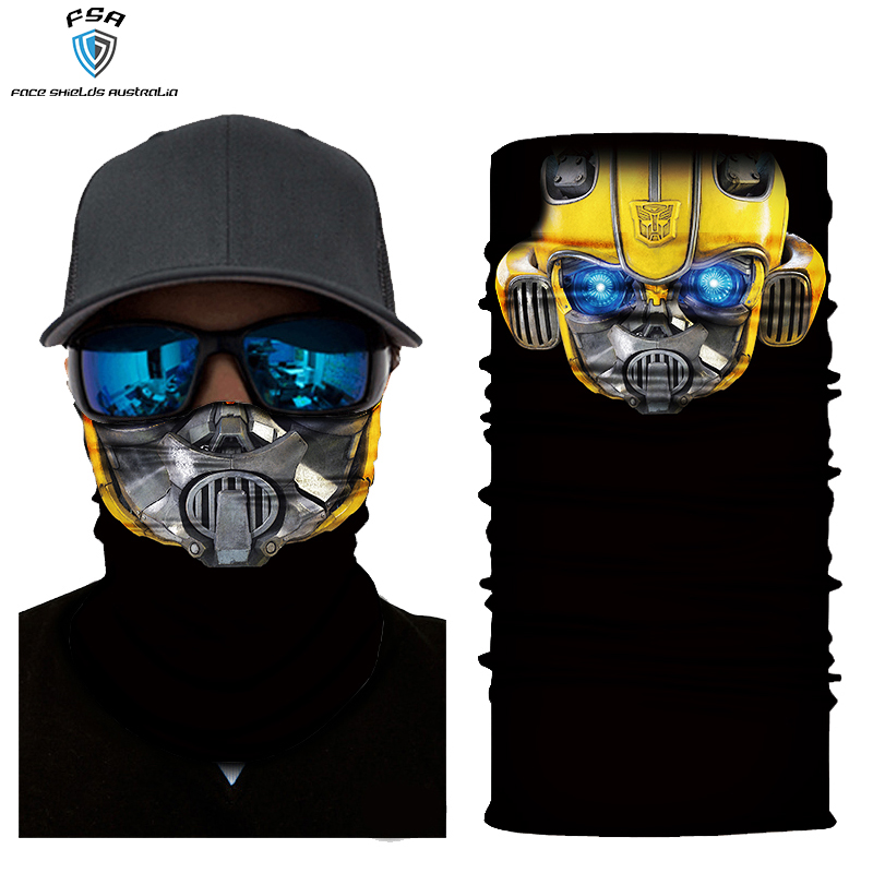 Bumble bee face shield