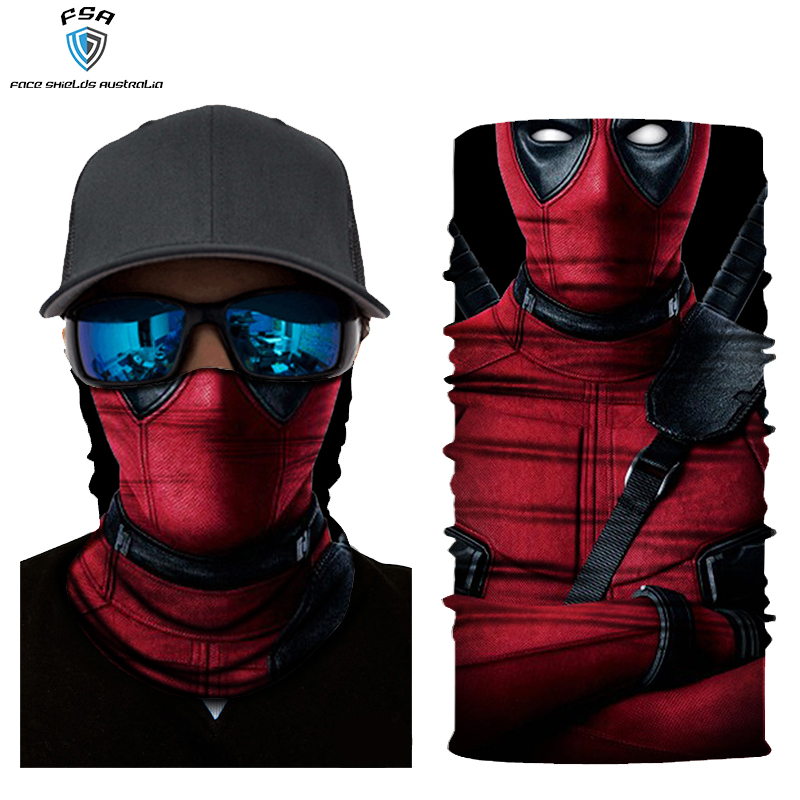 Kids Deadpool face shield