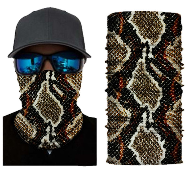 Snake skin face shield
