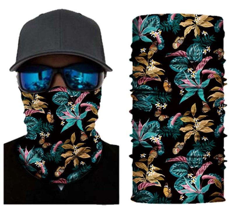 paradise flowers face shield