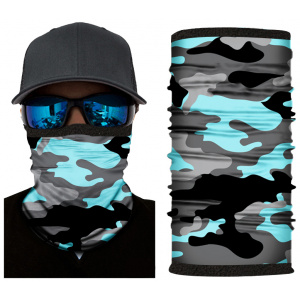 Kold Killa™ | Aqua Camo | Fleece Lined Face Shield