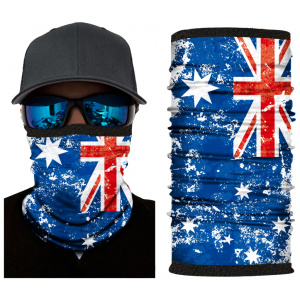 Kold Killa™ | Faded Aussie Flag | Fleece Lined Face Shield