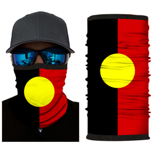 Kold Killa™ | Aboriginal Flag | Fleece Lined Face Shield